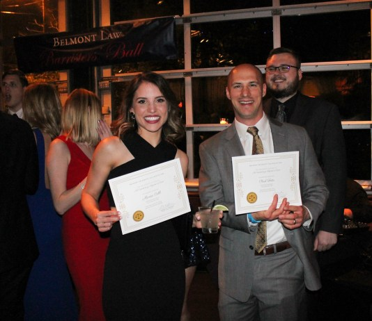 The Belmont Law Barrister's Ball, Thursday April 12, 2018.