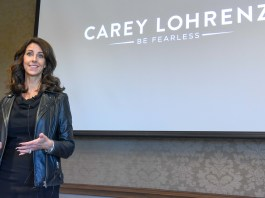Carey Lohrenz at Belmont University in Nashville, Tennessee, October 24, 2018.