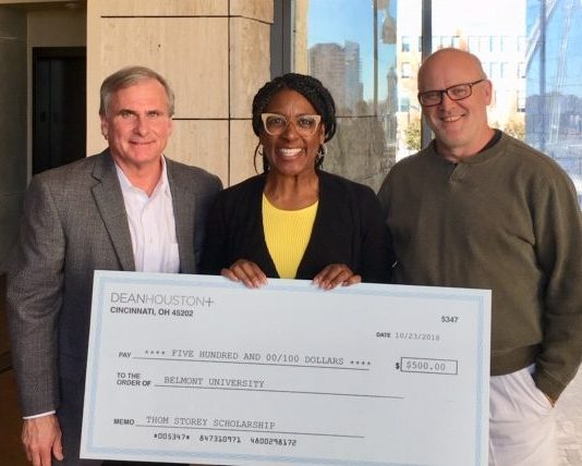 Brown presented check by DeanHouston