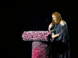 AShley Balding accepts her award for Women's Wear Designer