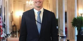 Ben Riggs in East Wing of the White House