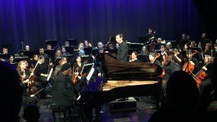James Matthews plays piano with Nashville Philharmonic Orchestra
