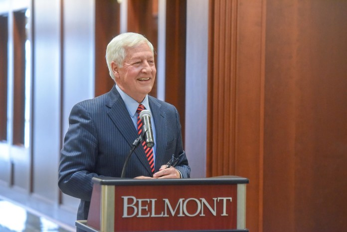 Dr. Bob Fisher announces that Belmont will add an Architecture degree. (2/1/2019)
