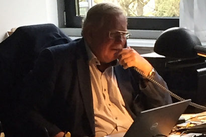 Reinhard Genzel on the phone with reporters on Oct. 6, 2020