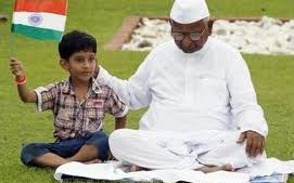 Anna Hazare during his Anti-Corruption Fast