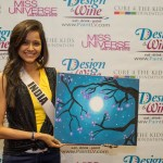 Shilpa Singh with her painting at at Miss Universe 2012 Las Vegas