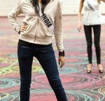 Miss India 2012, Shilpa Singh, during rehearsals at Bally's Las Vegas Hotel & Casino in Las Vegas, Nevada.
