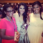 Nina Davuluri with her Mother and Sister
