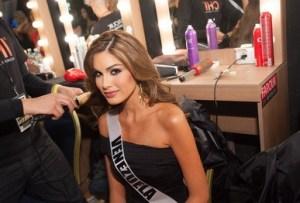 Maria Gabriela Isler at Backstage during Miss Universe 2013