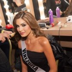 Maria Gabriela Isler at Backstage during Miss Universe 2013