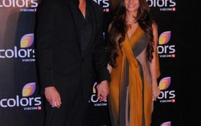 Armaan Kohli and Tanisha Mukherjee together at Colors Party