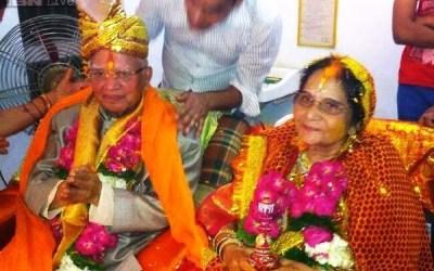 N D Tiwari and Ujjwala Sharma getting Married at Lucknow on May 14, 2014