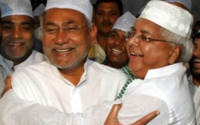 Nitish Kumar and Lalu Yadav
