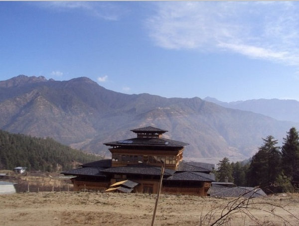 Picturesque Landscape of mountains in Bhutan