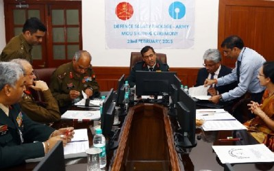 MoU signing Ceremony between Indian Army and State Bank of India
