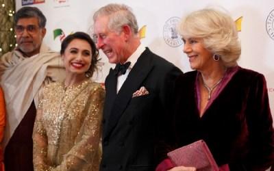 Rani Mukherjee with Prince Charles at Fundraiser