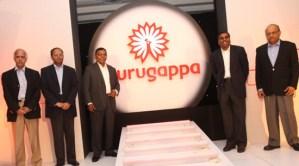 Murugappa Group Chairman A Vellayan unveiling its logo in 2010
