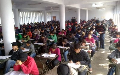 Students Appearing in Written Exam