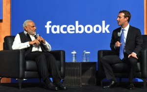 Narendra Modi and Mark Zuckerberg