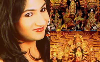 Mahika Sharma is very ecstasic about Durga Puja in North East