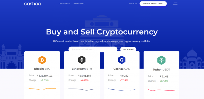 Banking Platform Cashaa Sees Indian Trading Volume Soar, Adding 5 More Cryptocurrencies