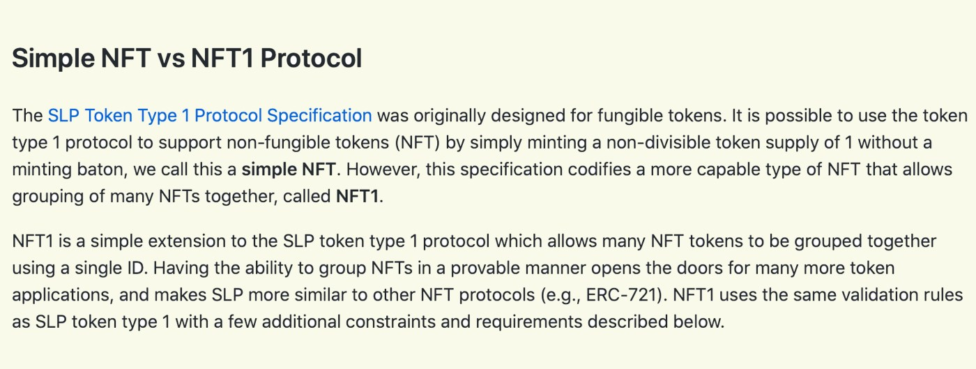 SLP Developers Publish Specs for a Unique Type of Non-Fungible Tokens