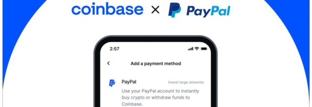 Coinbase now allows millions of customers to use Paypal to buy cryptocurrencies