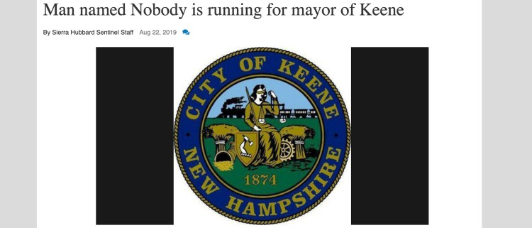 Bitcoin Cash-Accepting Mayoral Candidate 'Nobody' Hosts Keene's 420 Rally