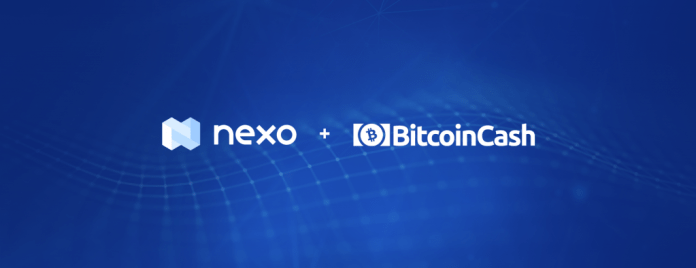 Nexo Now Offers Bitcoin Cash Instant Crypto Credit Lines