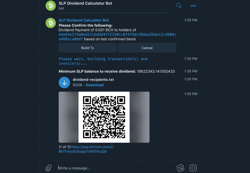 New SLP Telegram Bots Introduced to Bitcoin Cash Supporters