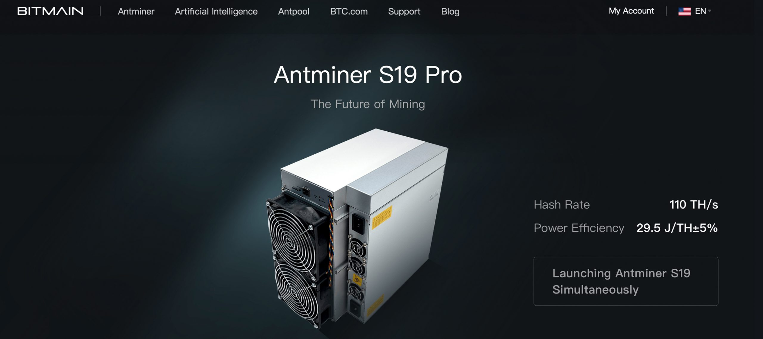 Bitmain Unveils 2 Bitcoin Miners With Max Speeds Up to 110TH/s Per Unit