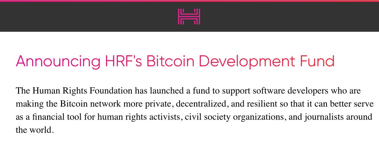 Bolstering Privacy: Human Rights Foundation Donates $50K Toward Bitcoin Mixing Development