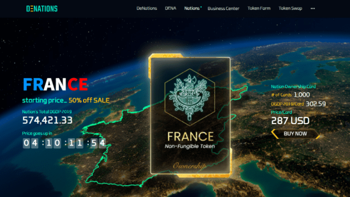 DeNations, a Blockchain-Powered Metaverse, Launches the First INO - Initial Nations Offering