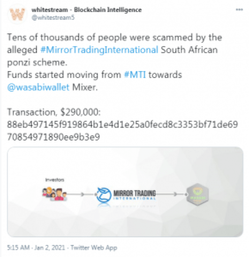 MTI Bitcoins Sent to Privacy Mixers as New Data Breach Exposes the Ponzi Scheme's Top Earners