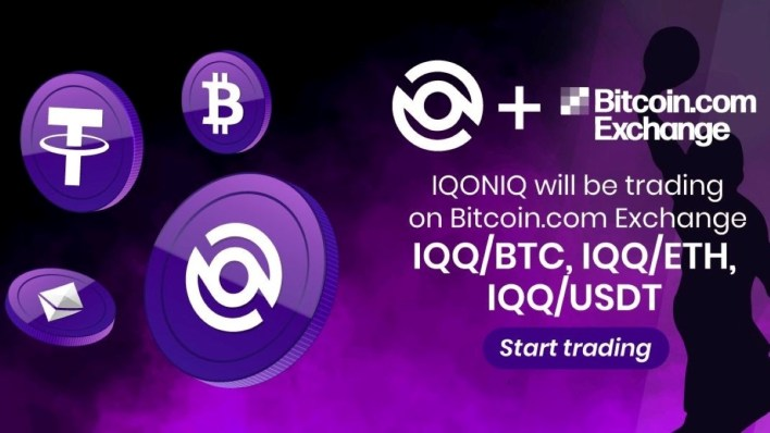 Bitcoin.com Exchange Has Listed IQQ, the Token Behind the IQONIQ Fan Ecosystem