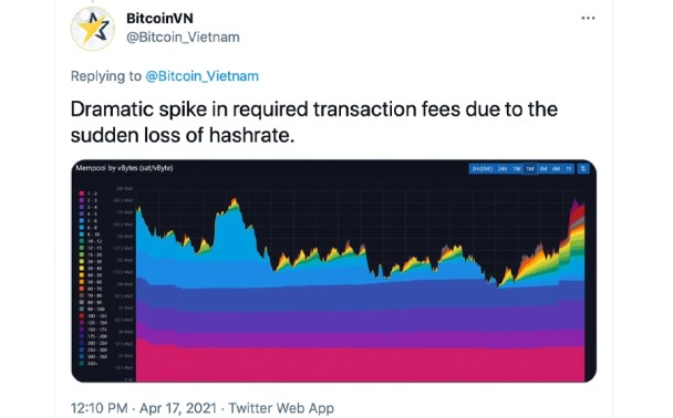 Bitcoin Hashrate Drops Over 45%, Xinjiang Grid Blackouts Blamed, BTC Price Slides 10%