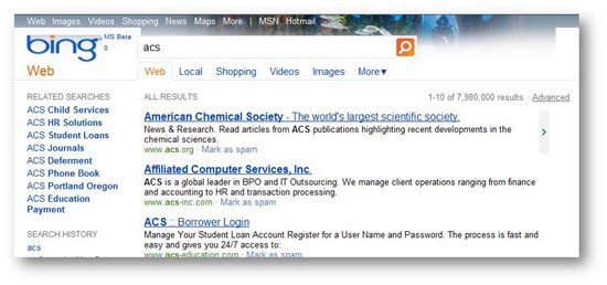 Bing Introduces Location Based Search