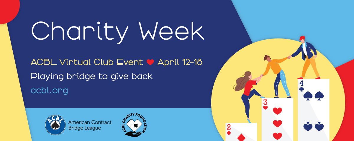 Play in the <strong>ACBL</strong> Charity Week and earn Double Black