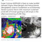 Bangladesh (India) evacuate millions ahead of cyclone