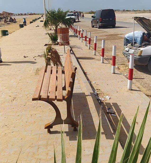 Bancs publics Plage du Casino de Sfax