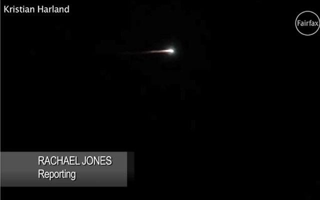 澳媒头条: 澳洲天空現火球  系为俄罗斯火箭碎片