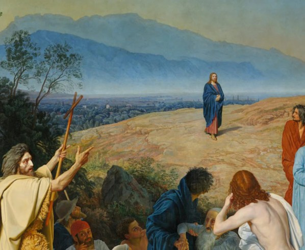 Явление Христа народу. Фрагмент картины Александра Андреевича Иванова