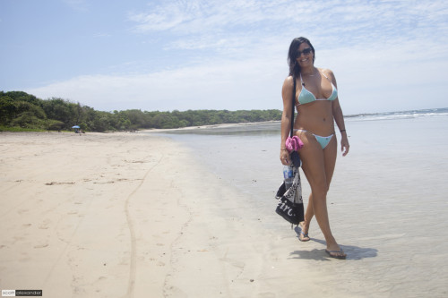 Priscila on Playa Tamarindo by Scott Alexander