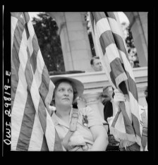 Arlington Cemetery, Arlington, Virginia, 1943: An American Legion color bearer at the Memorial Day services in the amphitheater. (Library of Congress)