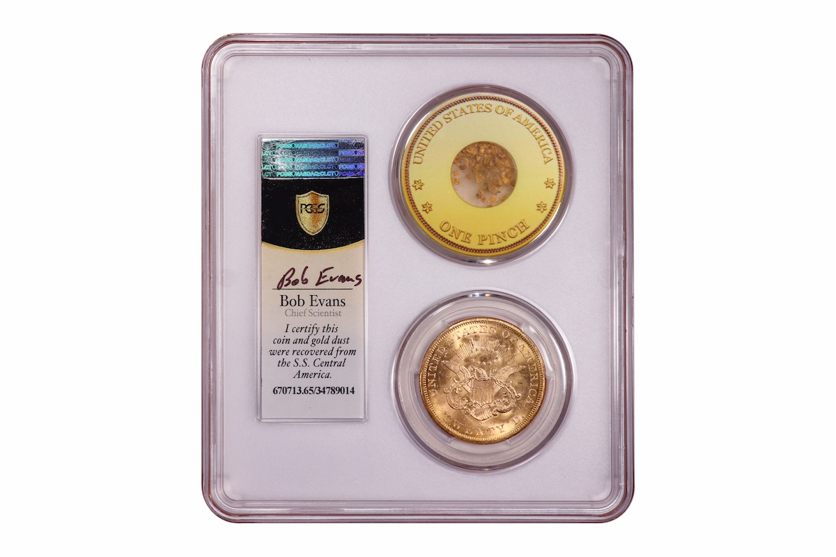 SSCA coin with gold dust rev | Coin Collectors News