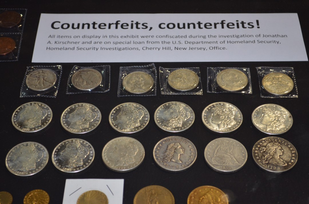 Counterfeit coins ICTA ACTF display