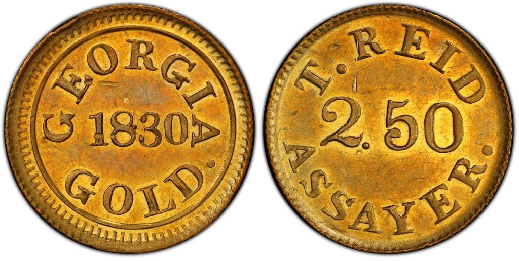 1830 Templeton Reid $2.50