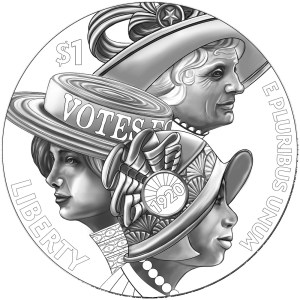 Women's Suffrage Centennial Commemorative Coin Obverse