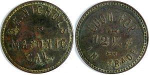 Masonic trade token