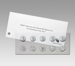 America the Beautiful Quarters 2020 Circulating Coin Set